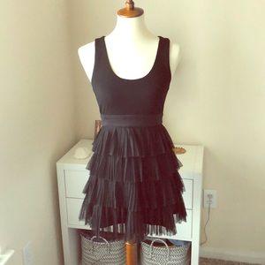 \Forever 21\• Black Ruffled Tulle Dress